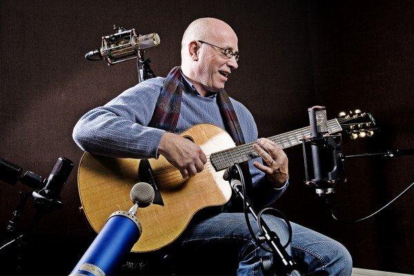 Bruce Gaitsch recording in the studio